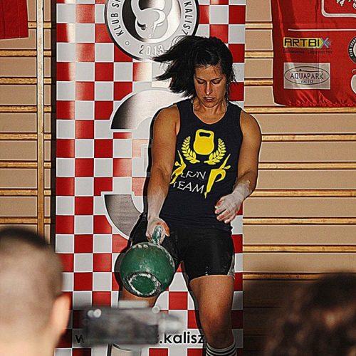 zawody kettlebell kasia dąbek rwanie treningi kettlebell panie ćwiczenia giriewoj sport